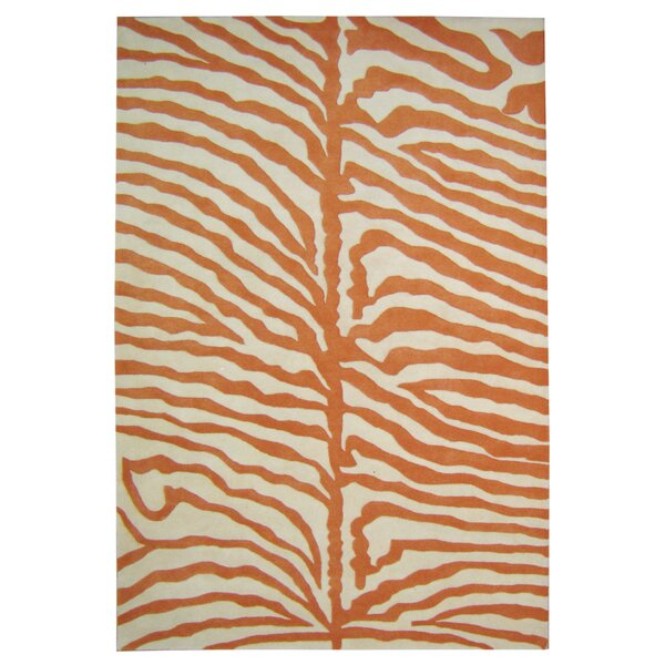 Alliyah Orange Area Rug by James Bond