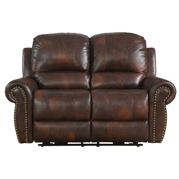Brode Power Leather Reclining Loveseat by Darby Home Co