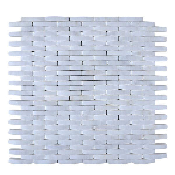 Engineered Stone Mosaic Tile in White by Legion Furniture