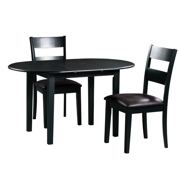 Amazing Forsyth 3 Piece Extendable Solid Wood Dining Set By Alcott Hill No Copoun