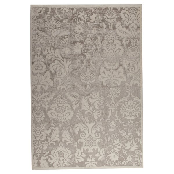 Russell White/Beige Area Rug by House of Hampton