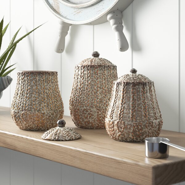 3 Piece Kitchen Canister Set by Bay Isle Home