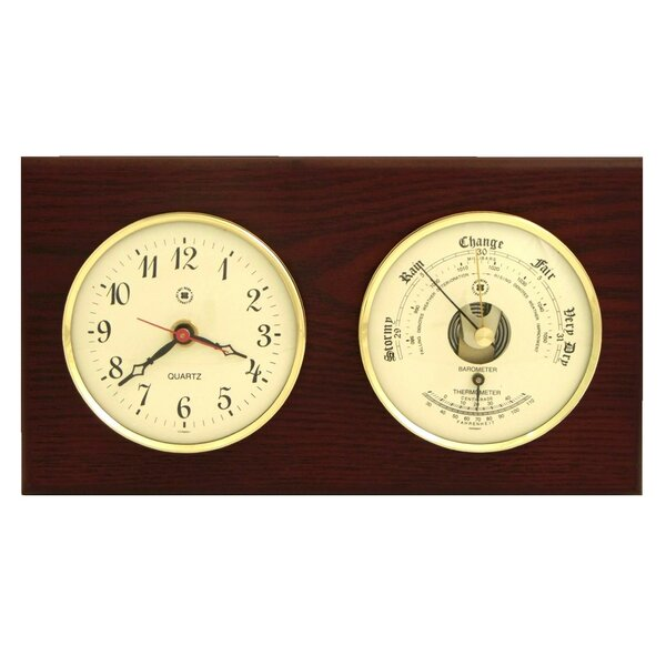 Wall Clock with Barometer and Thermometer by Bey-Berk