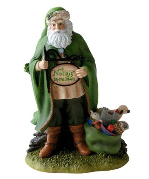 Irish Christmas Santa Mini Figurine by Precious Moments