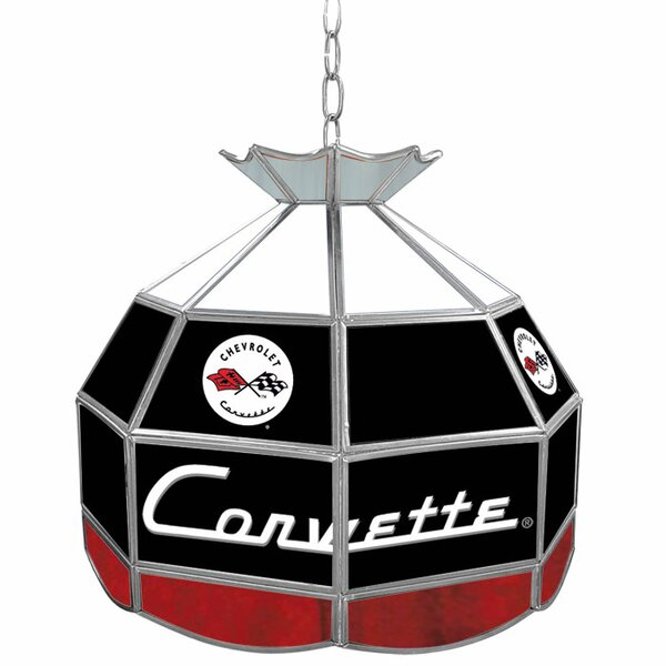 Corvette C1 Stained Glass Round Tiffany Lamp by Trademark Global