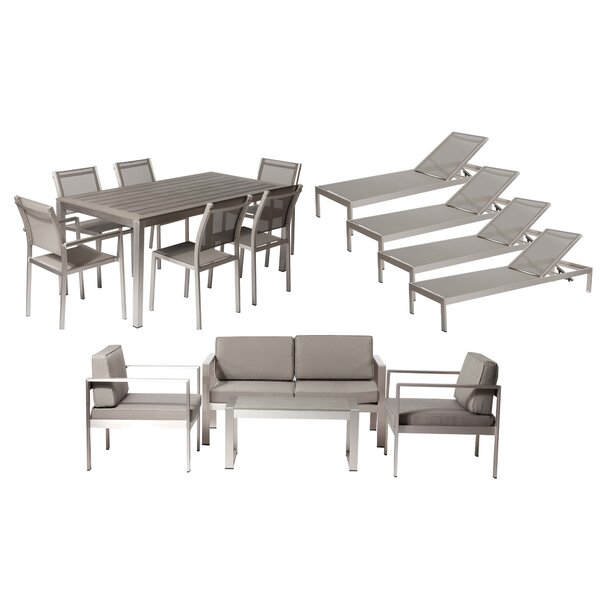Karen 15 Piece Complete Patio Set with Cushions by Rosecliff Heights