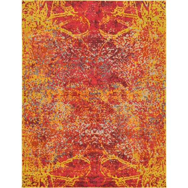 Fujii Red Area Rug by Bungalow Rose