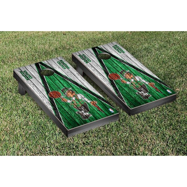 NBA Boston Celtics NBA Basketball Triangle Weathered Court Version Cornhole Game Set by Victory Tailgate