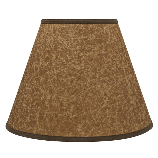 9 H Linen Empire Lamp Shade ( Spider ) in Brown