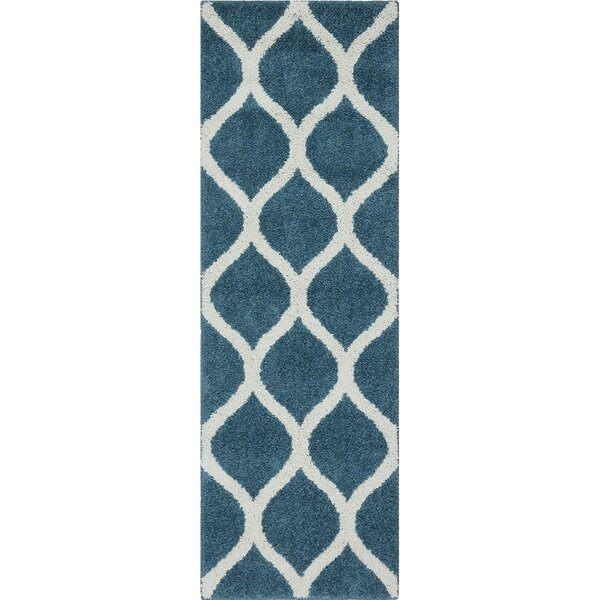 Hersom Overcast Blue Area Rug by Charlton Home