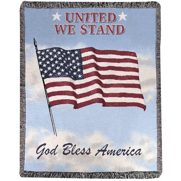 United We Stand Tapestry Cotton Throw by Manual Woodworkers & Weavers