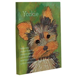 Doggy Decor Yorkie 1 Painting Print on Wrapped Canvas by One Bella Casa