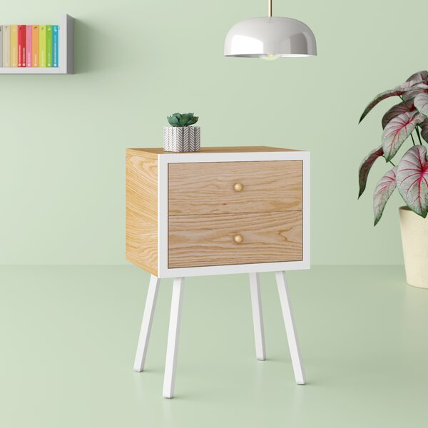 Zest End Table with Storage by Hashtag Home