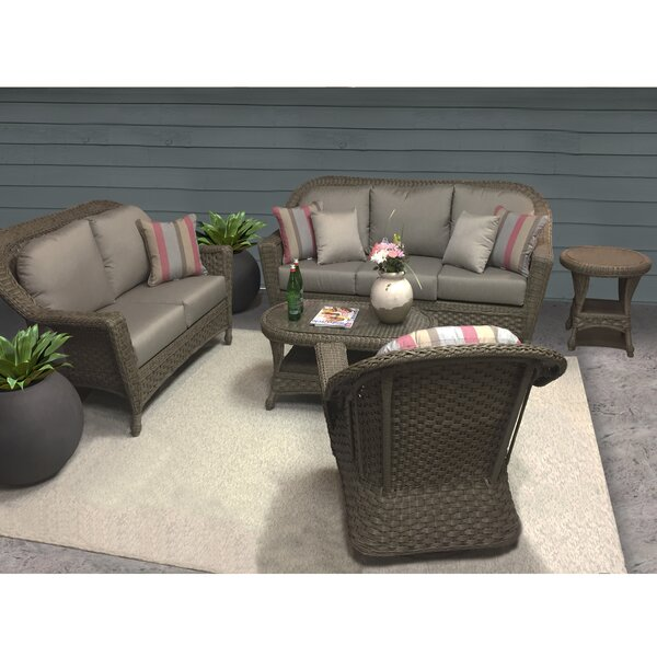 Biggs Seating Group with Sunbrella Cushions by Highland Dunes