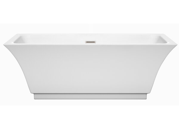 Galina 67 x 31.25 Freestanding Soaking Bathtub by Wyndham Collection