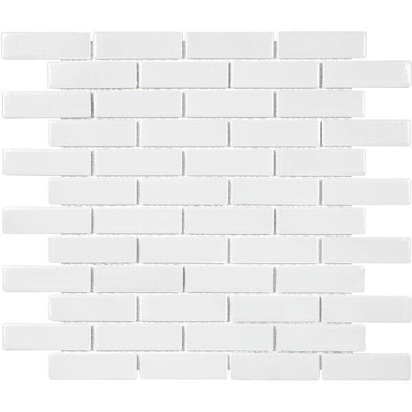 Sail 1 x 3 Ceramic/Porcelain Mosaic Tile in White by Parvatile