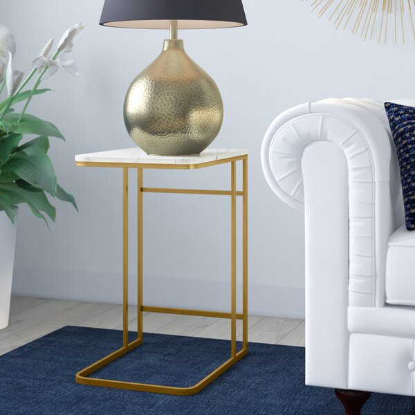 Chadwick Marble Top C Table End Table By Mercer41