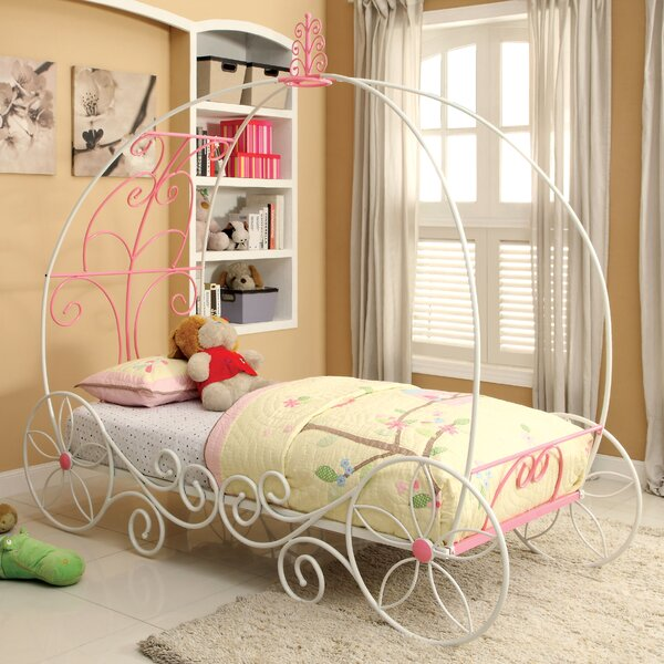 Elisha Twin Canopy Bed by Hokku Designs
