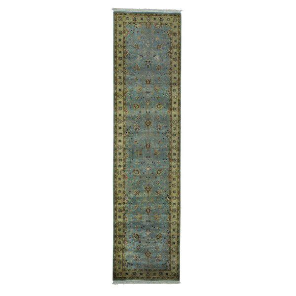 One-of-a-Kind Greenbank Tabriz Revival Hand-Knotted Gray Area Rug by World Menagerie