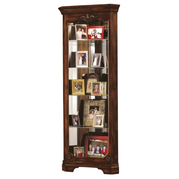 Brito Lighted Corner Curio Cabinet by Darby Home Co