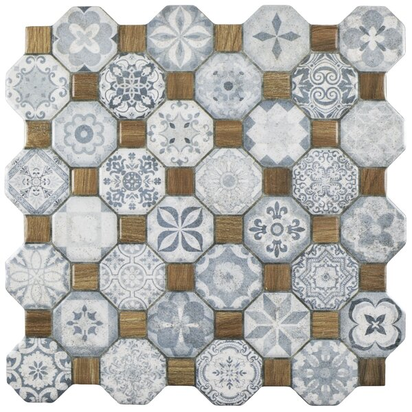 Edredon 12.25 x 12.25 Ceramic Tile in Blue/Gray by EliteTile