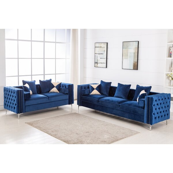 Trudell 2 Piece Living Room Set by House of Hampton