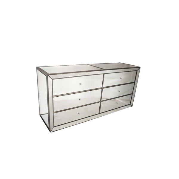 Holloman 6 Drawer Double Dresser by House of Hampton