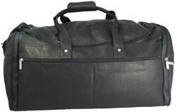 20.5 Leather Multi Pocket Travel Duffel by David King