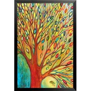 'Rainbow Tree Autumn Poster' by Jennifer Lommers Framed Painting Print by Buy Art For Less