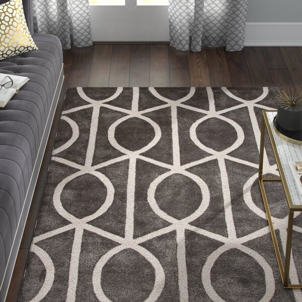 Blondell Wool and Art Silk Hand Tufted Pewter/White Area Rug by Willa Arlo Interiors