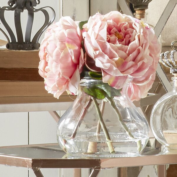 Fancy Rose in Vase by Breakwater Bay