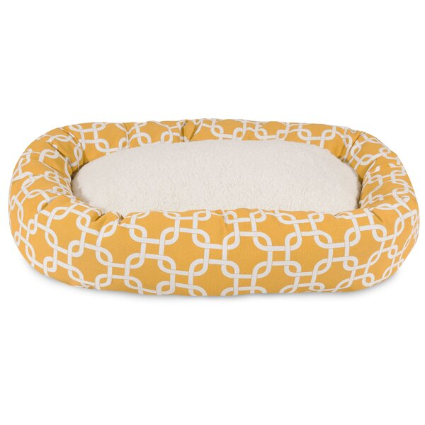 Links Sherpa Bagel Bolster Pet Bed by Majestic Pet Products