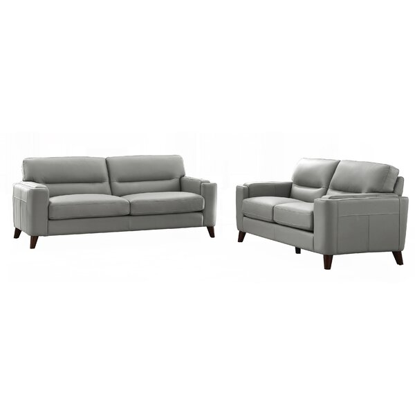 Bargains Lovelady 2 Piece Leather Living Room Set by Ivy Bronx by Ivy Bronx