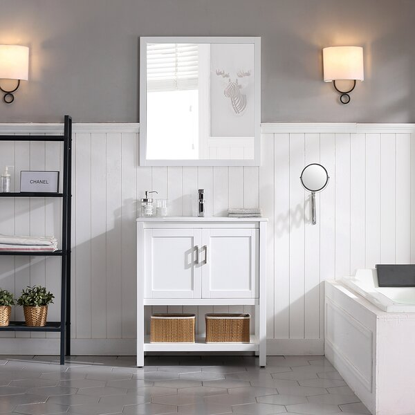 Mattis 30 Wall-Mounted Single Bathroom Vanity Set