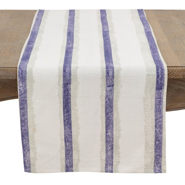 Aragam Shaded Stripes Hand Blocked Runner by Highland Dunes