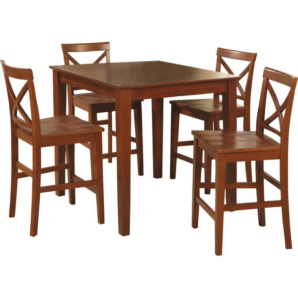 Duffey 5 Piece Counter Height Pub Table Set by Highland Dunes