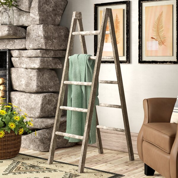 Wooden Double 4.5 ft Decorative Ladder by Foundry Select