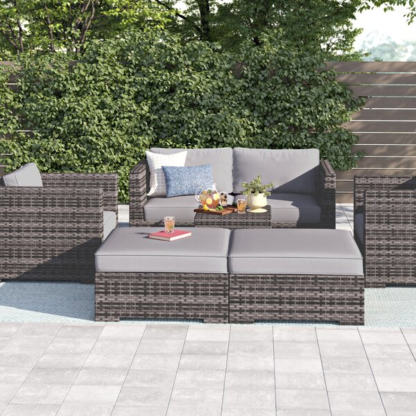 Letona Modular 6 Piece Sofa Seating Group with Cushions by Sol 72 Outdoor