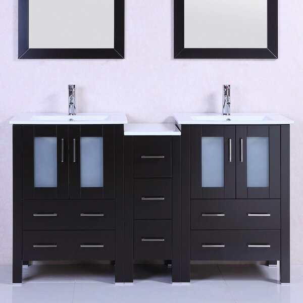 Modern 60 Double Bathroom Vanity Set by Belvedere Bath