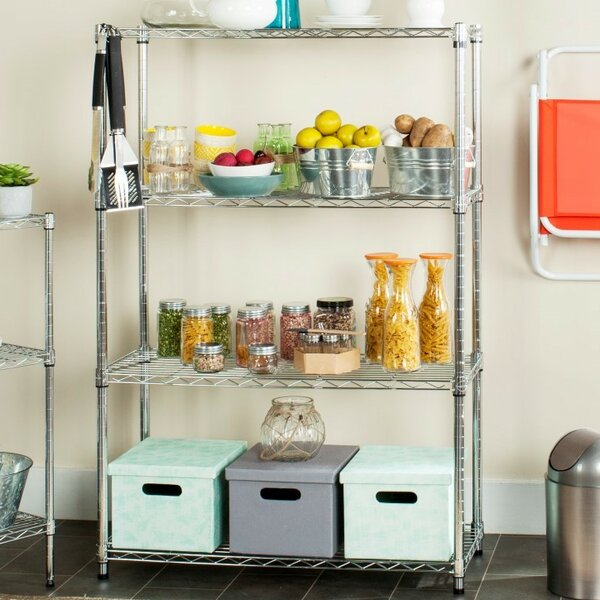 Bravo Wire 53 H Four Shelf Shelving Unit by Safavieh