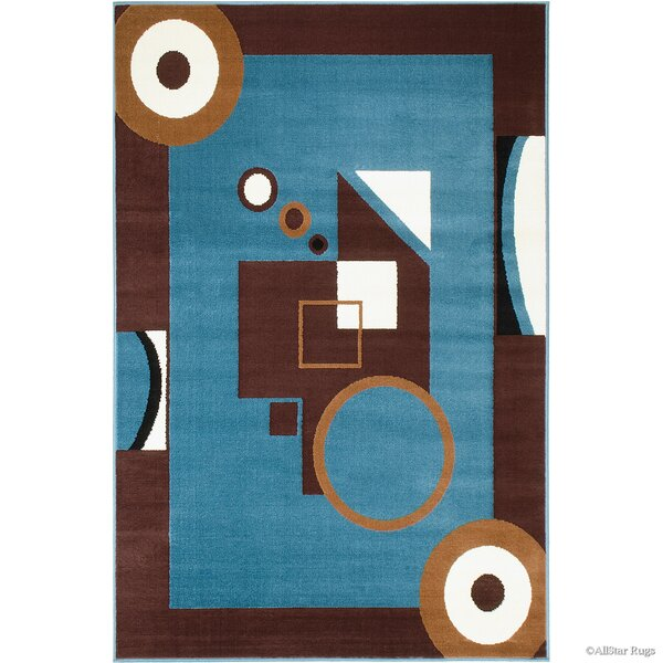 Hand-Woven Blue/Brown Area Rug by AllStar Rugs