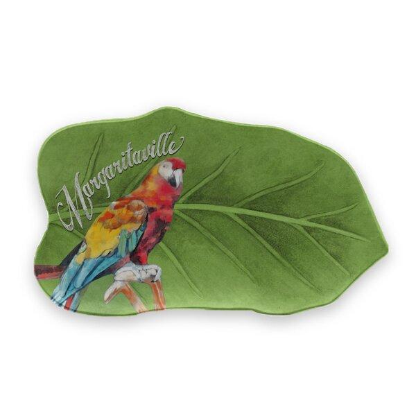 Margaritaville Tropical Parrot Figural Leaf Melamine Platter by Margaritaville