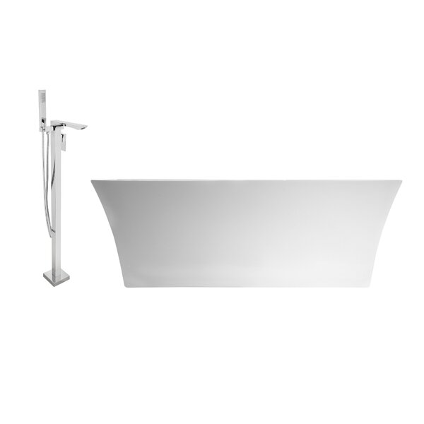 67 x 31 Freestanding Soaking Bathtub by Streamline Bath