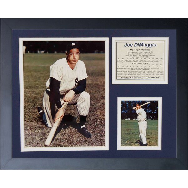 Joe DiMaggio Framed Memorabilia by Legends Never Die