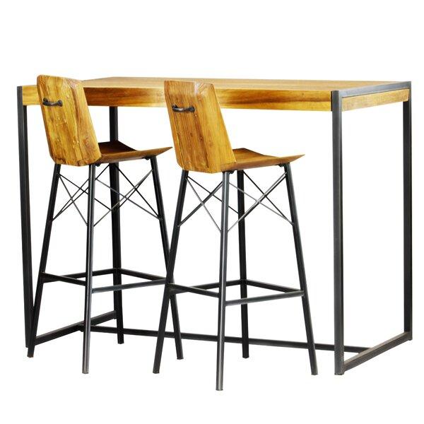Port Augusta 3 Piece Pub Table Set by Union Rustic