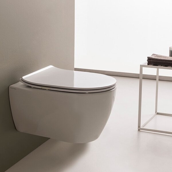 Moon 1.3 GPF Elongated Toilet Bowl by Scarabeo by Nameeks