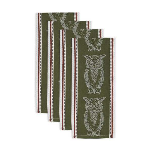 Owl Jacquard Dishcloth (Set of 4) by August Grove
