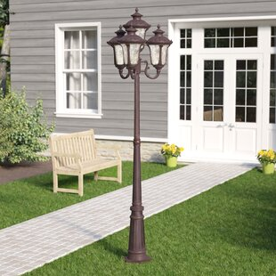 Best Deals Gurnee Outdoor 4-Light 93'' Post Light By Three Posts