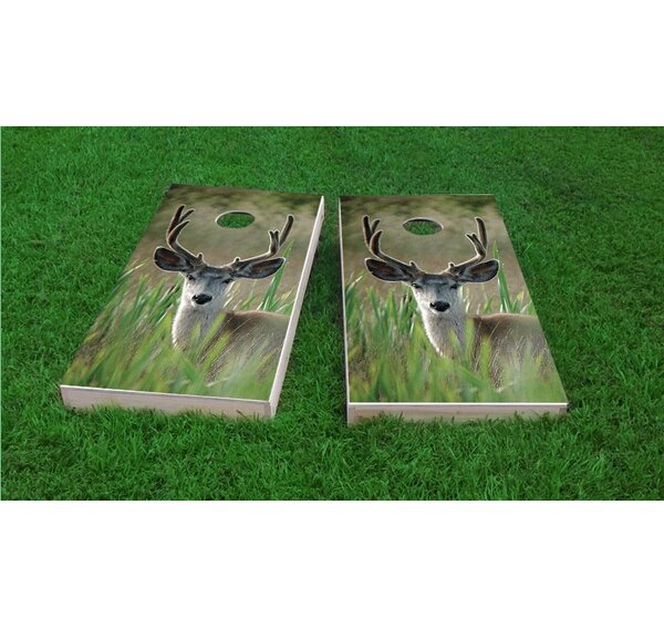 Mule Deer in Wetlands Light Weight Cornhole Game Set by Custom Cornhole Boards