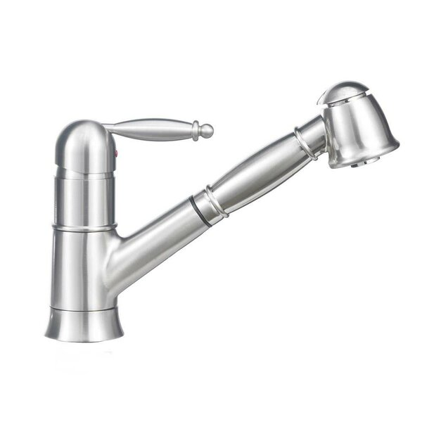 Grace Single Handle Deck Mounted Standard Kitchen Faucet with Dual Pull Out Spray by Blanco
